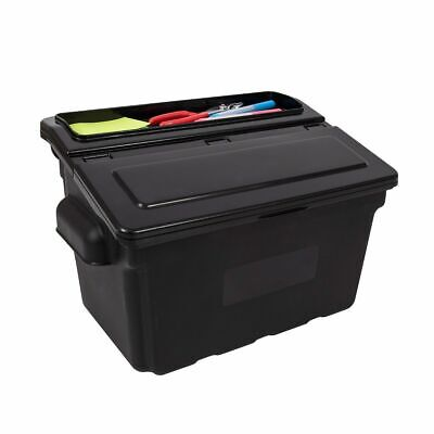 Offex Outrigger Commercial Tool Storage Utility Cart Bins With Lids - 2 Pack
