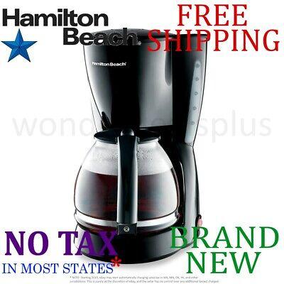 *New* HAMILTON BEACH Black Switch 12-Cup COFFEE MAKER Drip B