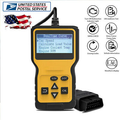 OBD2 Scanner Professional 16 PIN BDII Diagnostic Code Reader Tool LCD Display