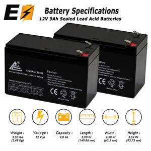 2x 12V 9Ah Battery for APC BACK-UPS XS1500 RBC109 PS-1290 RBC Smart UPS Battery
