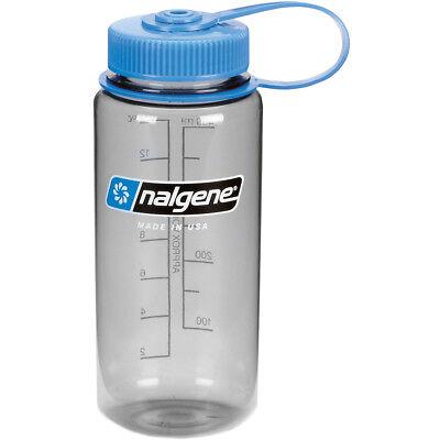 16 Oz Nalgene Water Bottle - Nalgene Tritan Wide Mouth 16 oz. Water Bottle - Gray/Blue