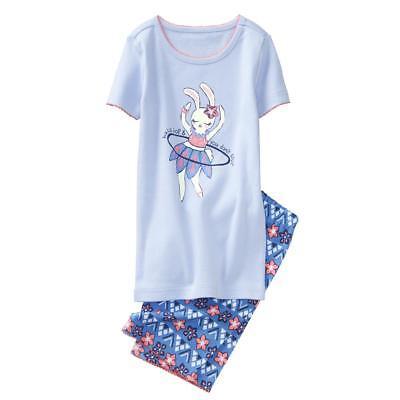 NWT Gymboree Girls Gymmies Bunny Pajama Set 2T,3,4,6,7,8,12,14 (Bunny Pajamas)