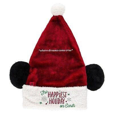 Disney Santa Mickey Mouse Ear Hat for - Disney Hats For Adults