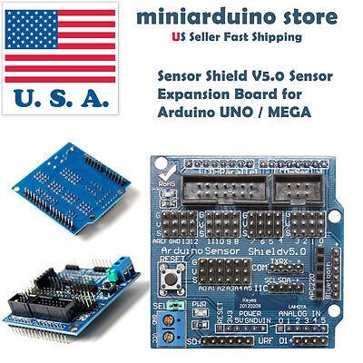 Sensor Shield V5.0 Sensor Expansion Board For Arduino Uno Mega Servo Motor Usa
