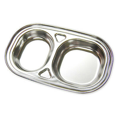 Divided Stainless Steel Food Snack Tray Lunch Box Portion Diet Plate Adult Kids