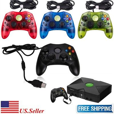 New Xbox S Type Controller For Microsoft Xbox Original Wired 4 Colors