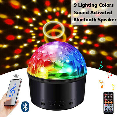 Disco Ball Night Light (9W Bluetooth Speaker Disco Ball LED Night Light Projector Lamp For Party)