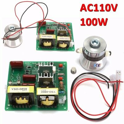 110v 100w 40khz Ultrasonic Cleaner Power Driver Board 60w 40khz Transducer