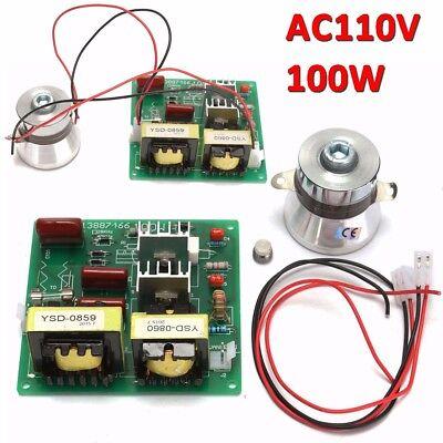 110v 100w 40khz Ultrasonic Cleaner Power Driver Board 60w 40khz Transducer