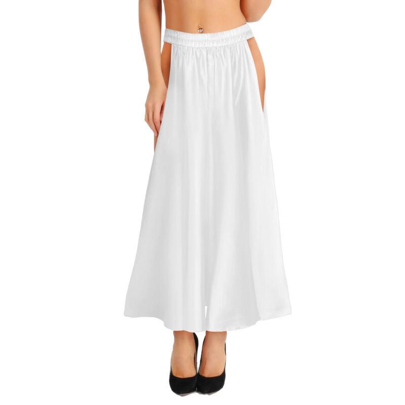 Two Side Slit Skirt Belly Dance Costume Tribal Wave Long Skirt Adult Performance