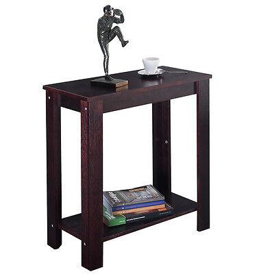 تربيزه جديد Chair Side Table Coffee Sofa Wooden End Shelf Living Room Furniture Espresso New