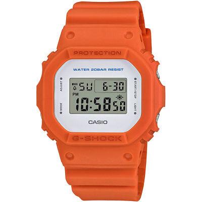Casio G-Shock Men's DW5600M-4 Quartz Digital Square Orange Resin Case 43mm Watch