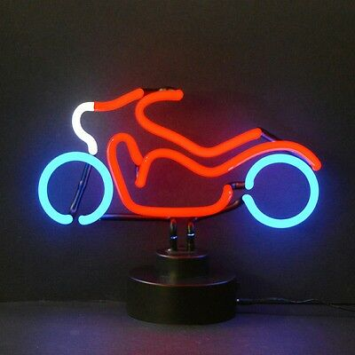 - New glowing neon Motorcycle sign sculpture lamp light Fast Free Shipping