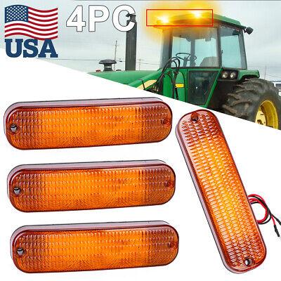4 Led Amber Warning Light Ar60250 For John Deere 30 Series4030 4230 4430 4630