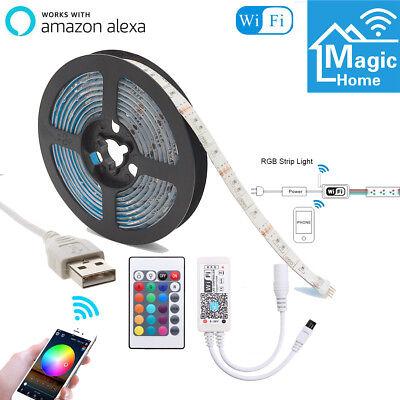 2m USB RGB TV Backlight Smart WiFi Strip Light IP65 Work with...