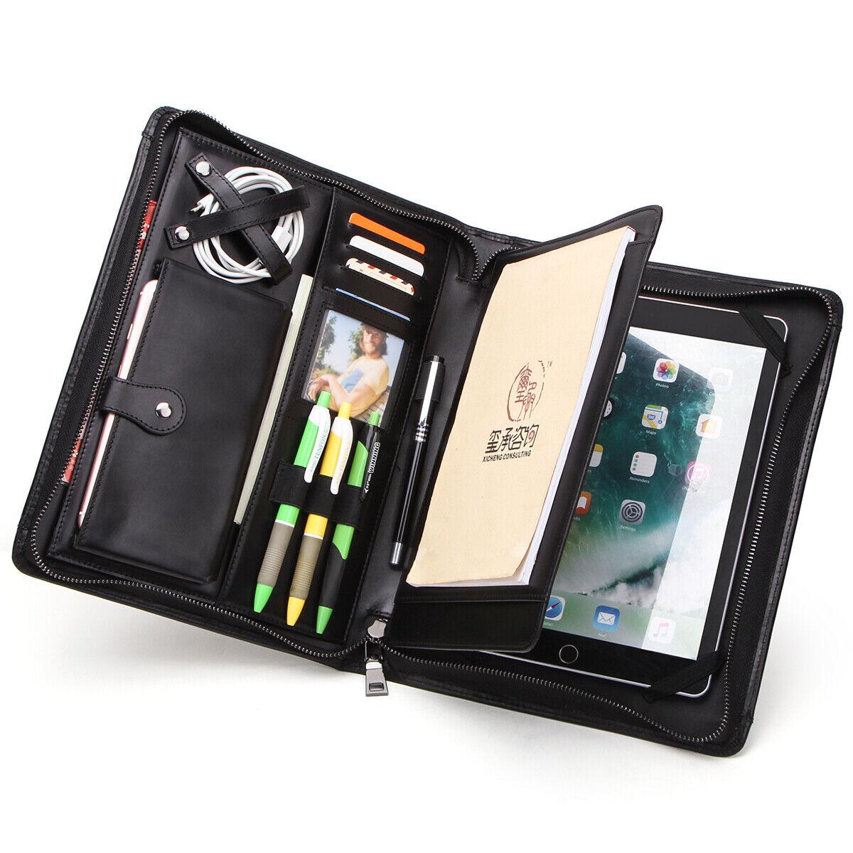 Portfolio Sleeve Case Genuine Leather Padfolio Handbag For i