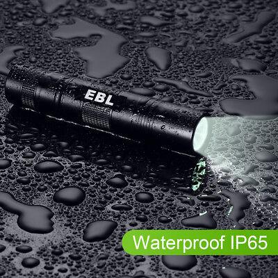 Mini 5 Modes CREE LED T6 Slim Portable 18650 Flashlight Focus Torch Lamp Light ()