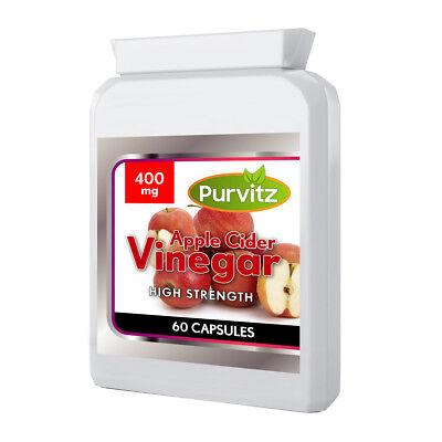 Vinagre de Sidra Manzana Pastillas Made UK Purvitz Pérdida de Peso 60...