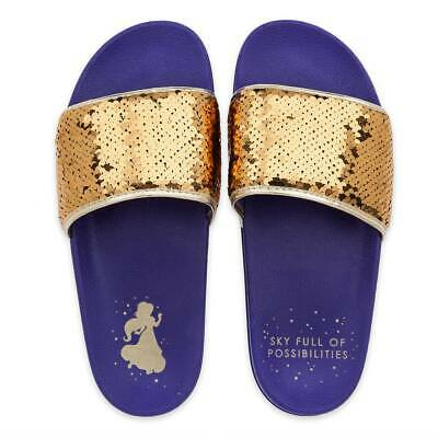 Disney Authentic Aladdin - Princess Jasmine Womens Slides Sandals Size 6 New