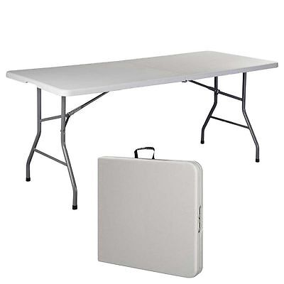 6 FT Folding Table New Office Centerfold Plastic Home Patio Party Garden (Office Parties)