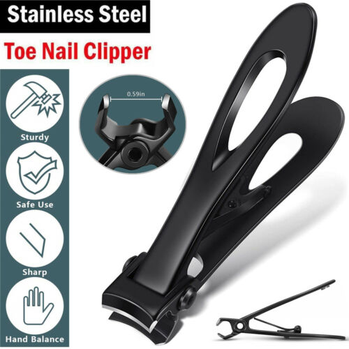Professional Extra Large Toe Nail Clippers For Thick Nails Heavy Duty Stainless Health & Beauty