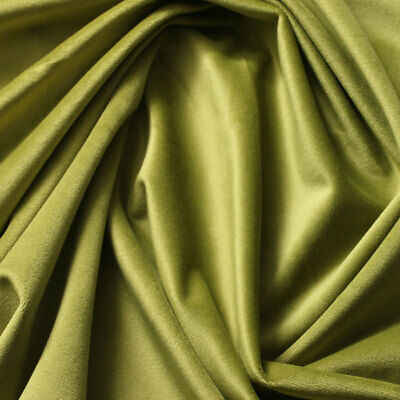VELVET Upholstery Drapery Home Fabric 60'' 290gsm  SOLID GREEN OLIVE DRAB - Olive Upholstery Collection