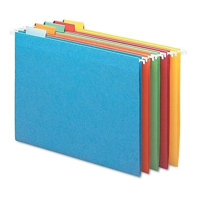 Smead - Hanging File Folders 15 Tab 11 Point Stock Letter 25 Pack Asst Color