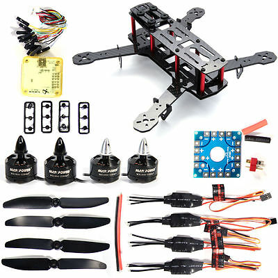 FPV Mini 250 Quadcopter Carbon Fiber RC Motor 12A ESC Flight Control Drone RC001
