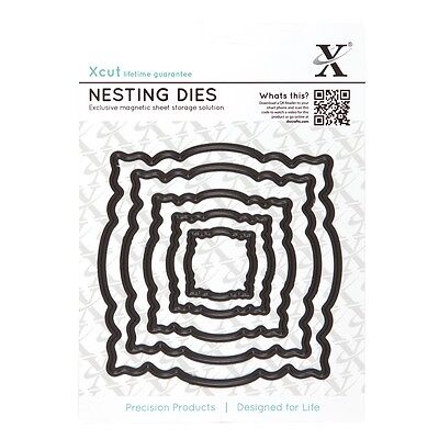 DOCRAFTS XCUT NESTING DIES WITH MAGNETIC SHIM CIRCLE SQUARE & MORE SHAPES NEW