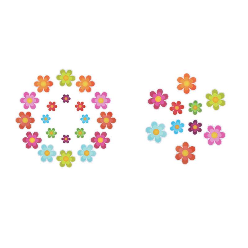 13Pcs Bath Tub Shower Stickers Decals Waterproof Non-Slip Applique Mat Flower