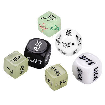 6PCS/Set Glow In The Dark Humour Love Funny Toy Adult Couples Game Sexy Dice](Glow In The Dark Game)