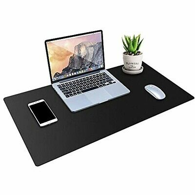 Desk Pad Protector Pu Leather Desk Mat Blotters Black Laptop Mat For Officeho