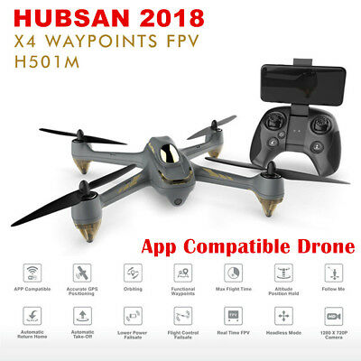 Hubsan H501M X4 FPV Drone Brushless RC Quadcopter 720P Camera GPS Wifi APP RTF