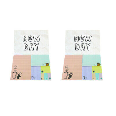 4a Sticky Note Set New Day Coffee Cute Memo Pad School Supplies 14 Pads