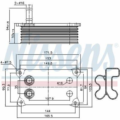 D4G001TT NEU Thermotec Ölkühler