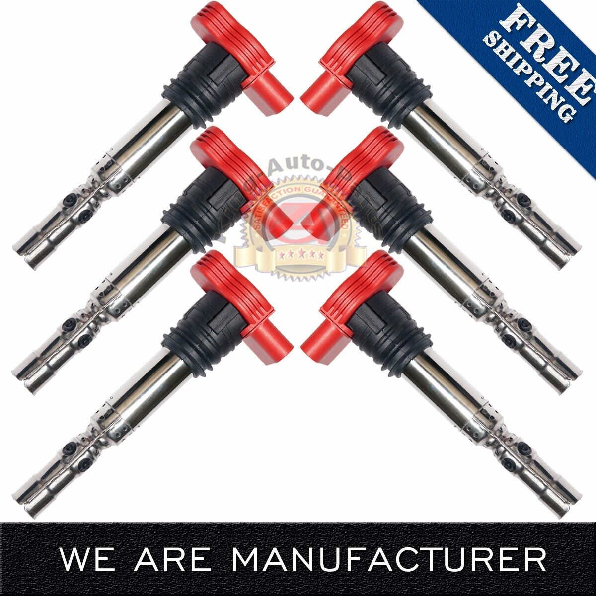 Quattro A4 A6 Pack of 6 Ignition Coils for 02-06 Audi V6 3.0L fit UF-483 ...