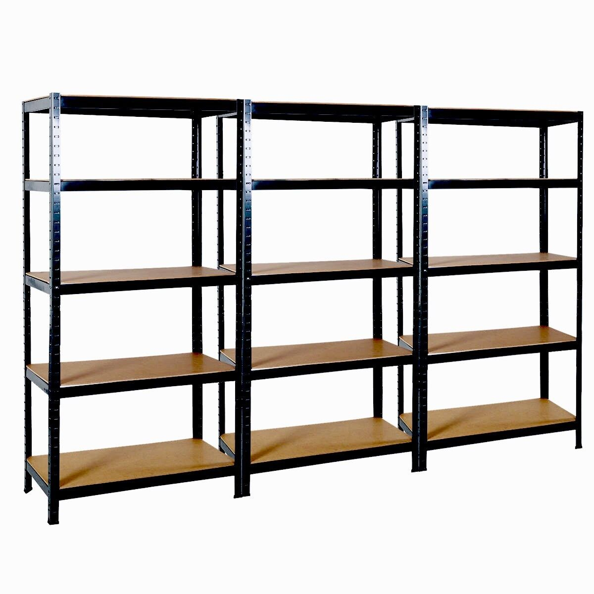 3 x 5 tier boltless industrial heavy duty racking shelving for Garden shed 3x5
