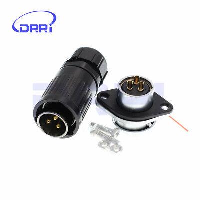 He20 3 Pin Waterproof Connector Dustproof High-voltage Power Connectors Ip67