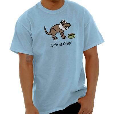 Life is Crap Sick Dog Funny Shirt Cute Puppy Sarcastic Gift Classic T Shirt Tee Dog Poop T-shirt
