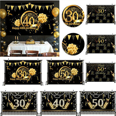 40th Birthday Backdrop (30th 40th 50th Birthday Photography Backdrop Banner Background Props Party)