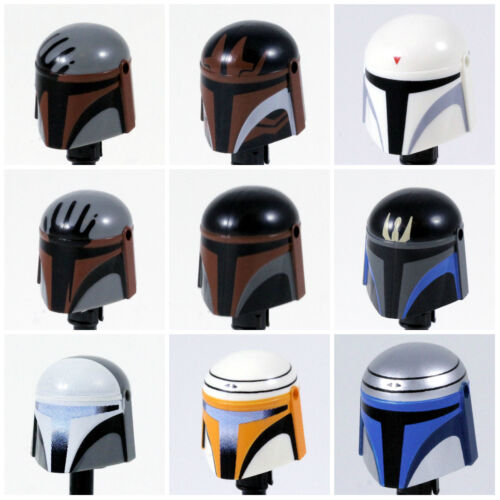 Custom MANDALORIAN HELMET for Lego Minifigures -Pick Color!- Star Wars Clones