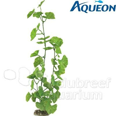 Aqueon Green Geranium Weighted Base Plastic Aquarium Plant Large 16""