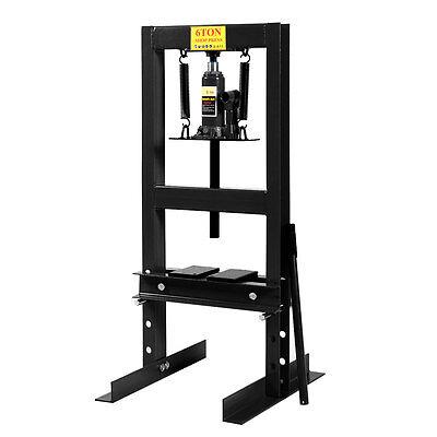 6 Ton Hydraulic Workshop Press Garage Shop Floor Standing Plates & Ram Carriage
