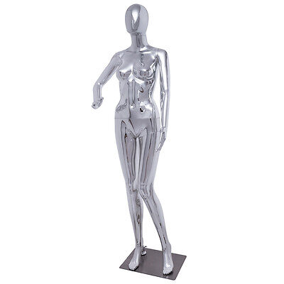 New Female Full Body Mannequin Plastic Abstract Egg Head Glossy Wbase