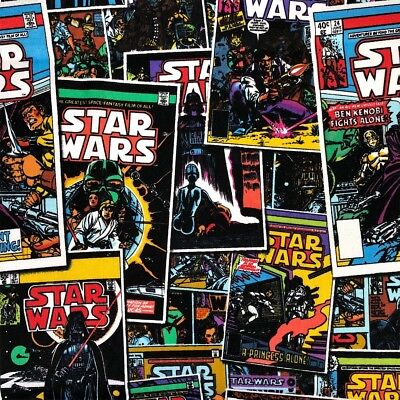 Star Wars Comic Book Quilting Fabric - Per 1/4 Metre