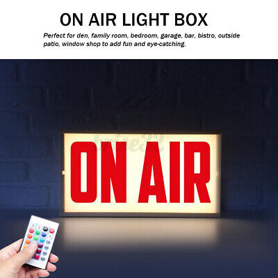 On Air Acrylic Led Remote Light Up Letter Box Sign Shop Bar Beer Pub Decoration