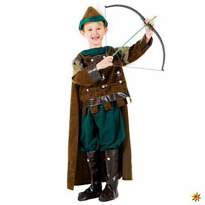 Hood Gr. 110-122 grün Bogenschütze Fasching Karneval (Kostüm Robin Hood)