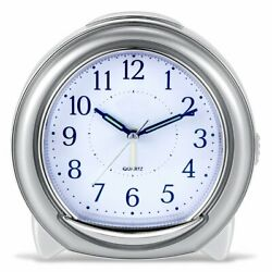 Super Silent Desk Alarm Clock, Quartz With Loud Mechanical Bell Birdsong Melody