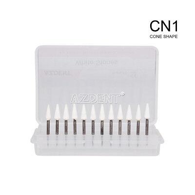 Dental Cone White Stone Polishing Fg Burs 12pcpk Abrasion Cn1 Points Bur