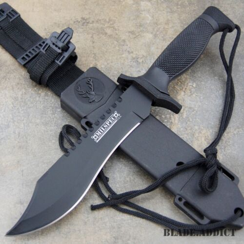 """12"""" TACTICAL SURVIVAL Rambo Hunting FIXED BLADE KNIFE Army Bowie w/ SHEATH NEW"""